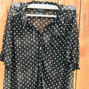 Tops - Blouse Polka Dots 2xl Xxl Plus Size